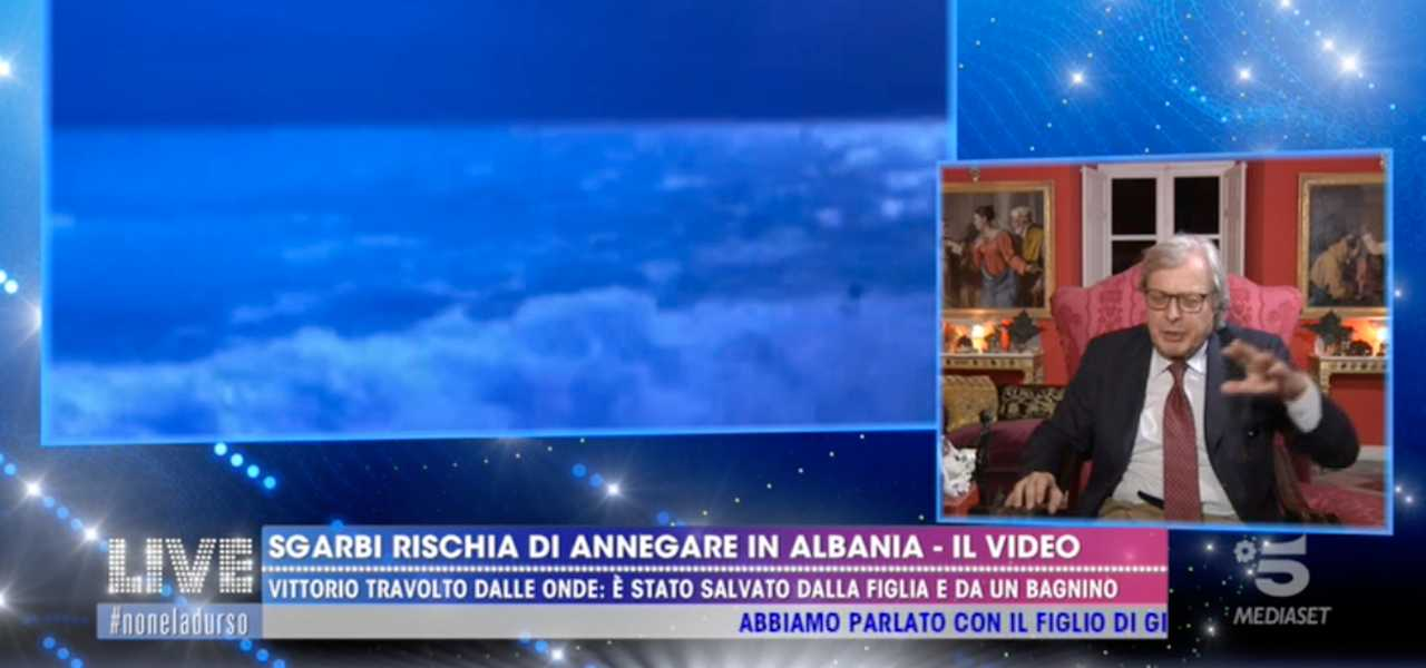 sgarbi annega 2019 tv