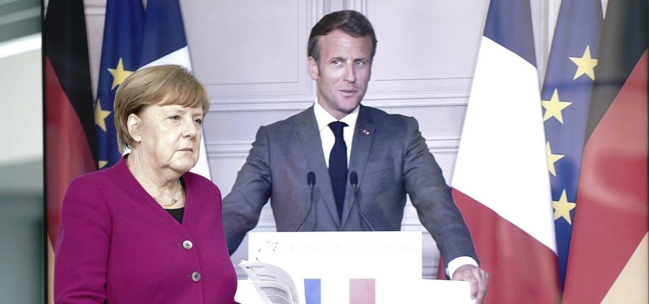 Macron Merkel videoconferenza lapresse 2020