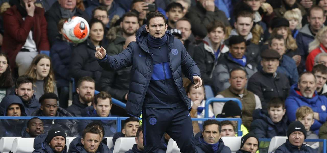 Frank Lampard Chelsea pallone lapresse 2020