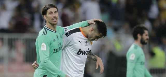 Sergio Ramos Maxi Gomez Real Madrid Valencia lapresse 2020 640x300