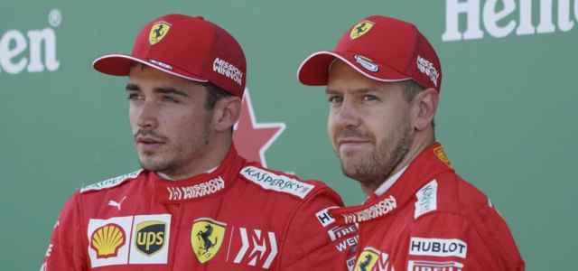 Leclerc Vettel Formula 1 Ferrari