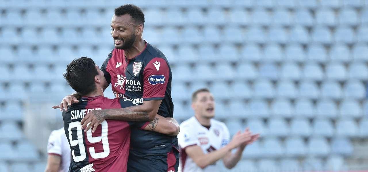 Joao Pedro Simeone Cagliari gol lapresse 2020