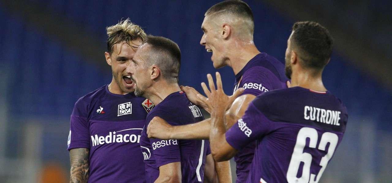Lirola Ribery Milenkovic Cutrone Fiorentina gol lapresse 2020
