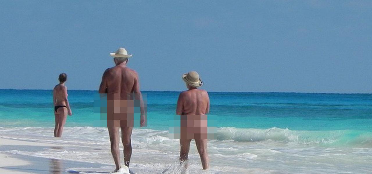 Nudisti in spiaggia