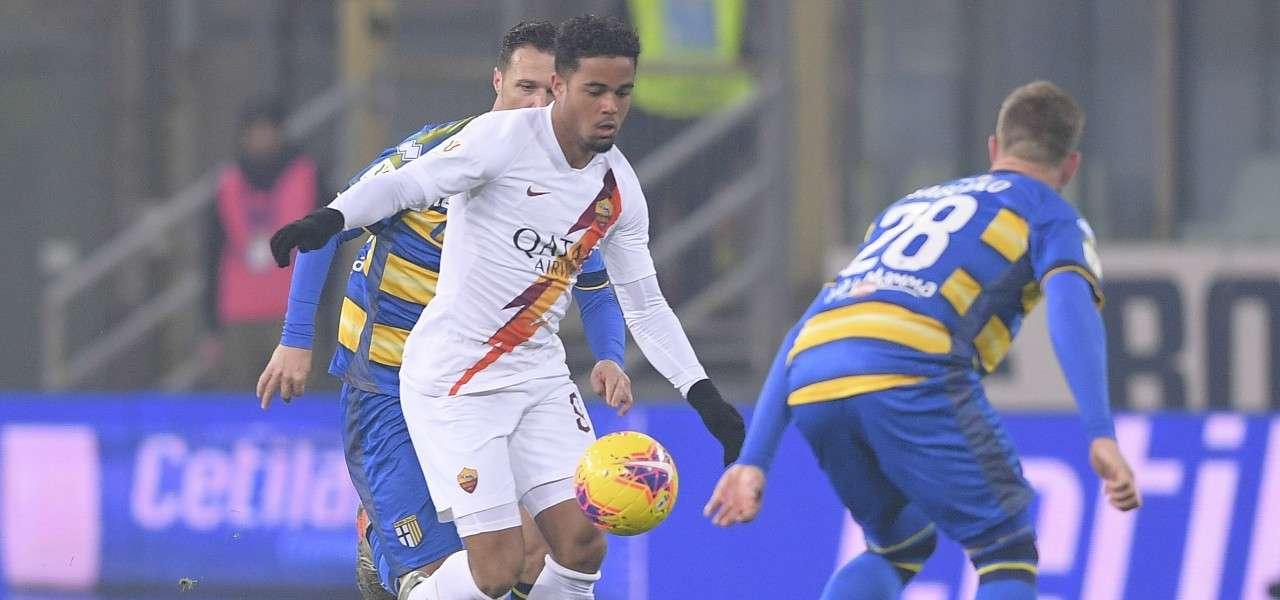 Justin Kluivert Gagliolo Roma Parma lapresse 2020