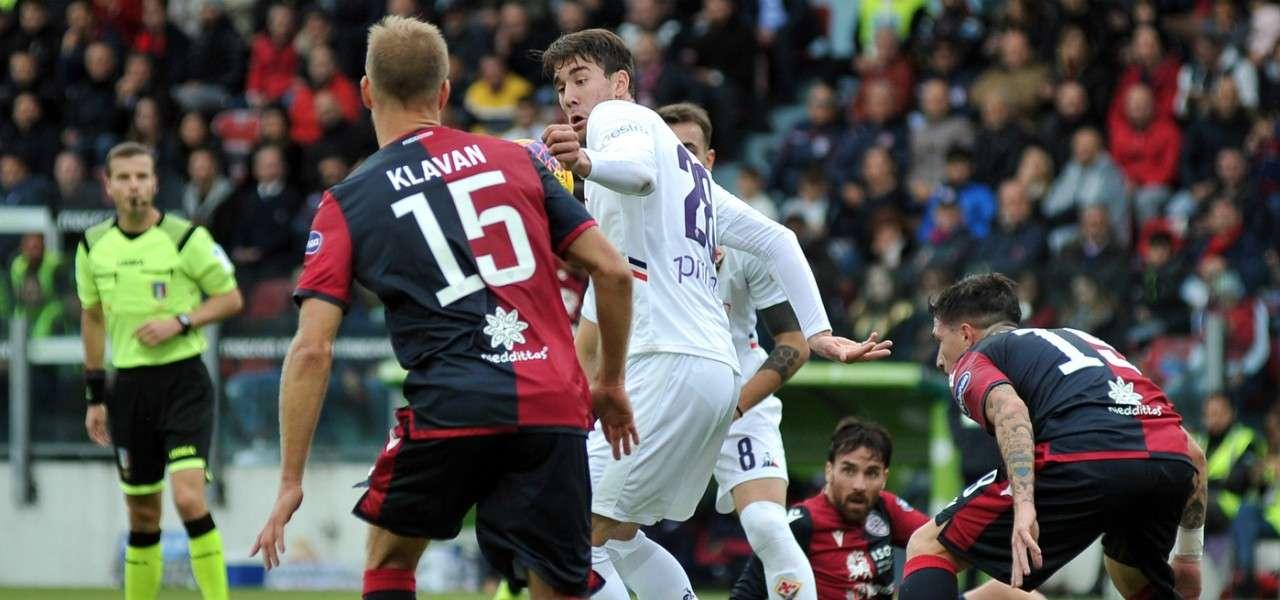 Klavan Vlahovic Cagliari Fiorentina lapresse 2020