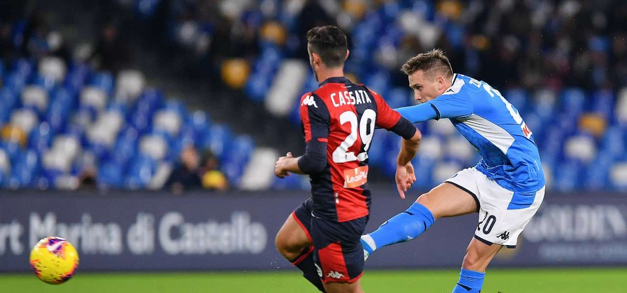 Zielinski Cassata Napoli Genoa lapresse 2020