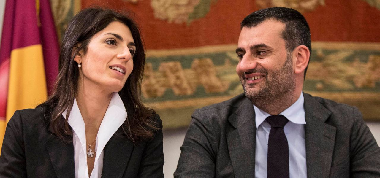 Antonio Decaro e Virginia Raggi