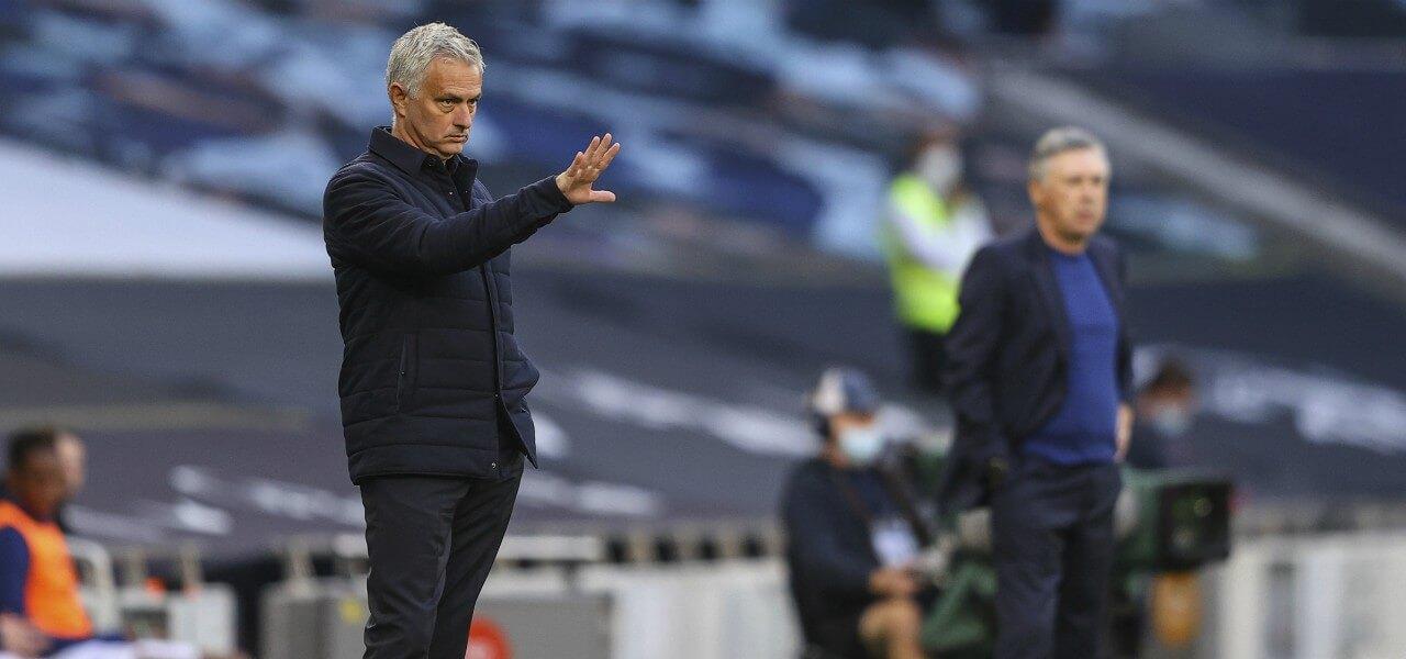 Jose Mourinho indicazioni Tottenham Everton lapresse 2020