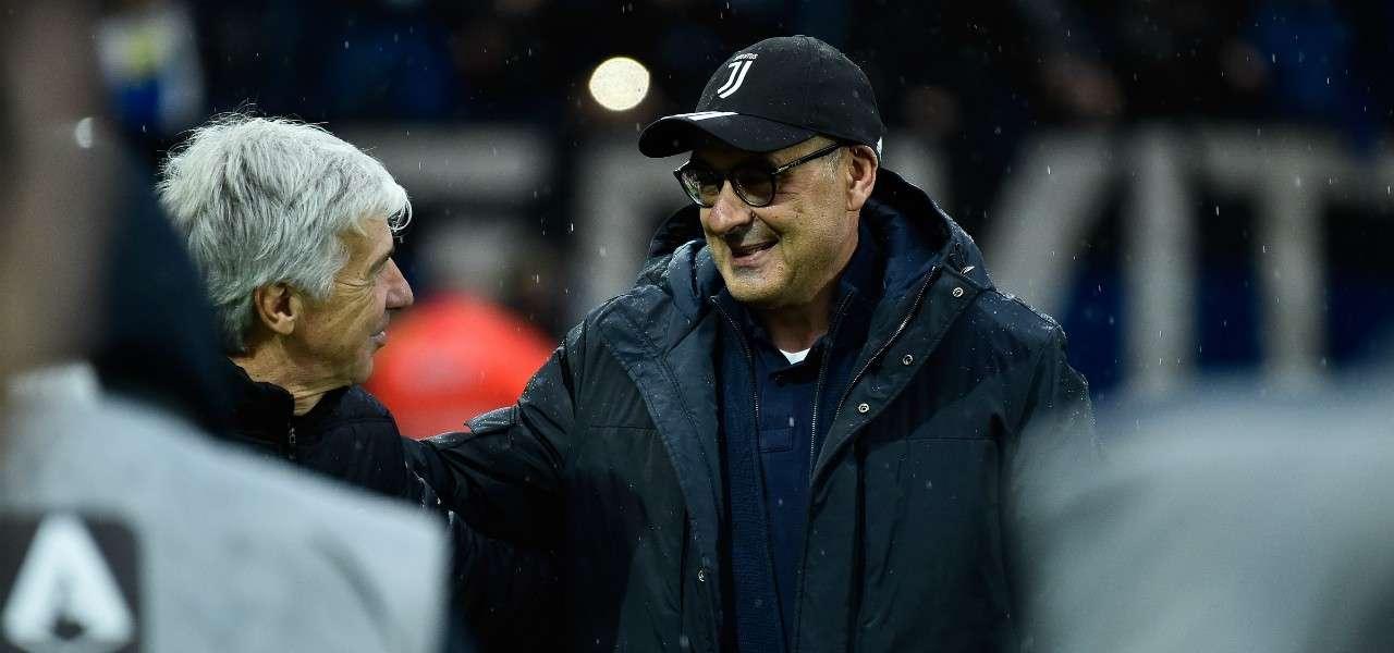 Gasperini Sarri Atalanta Juventus lapresse 2020