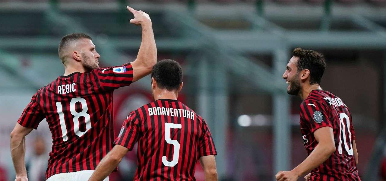 Ante Rebic esultanza Milan Juventus lapresse 2020