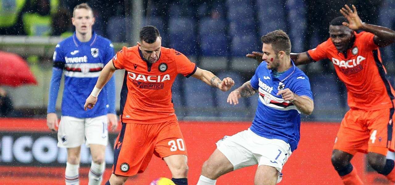 Linetty Nestorovski Sampdoria Udinese lapresse 2020
