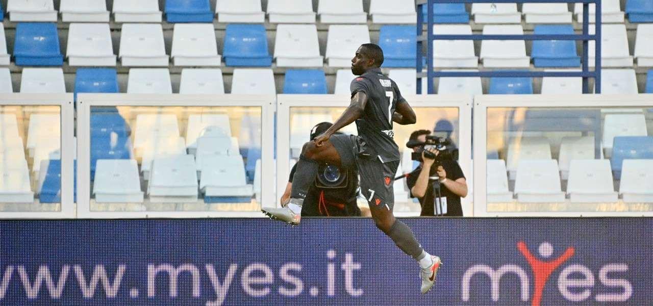 Stefano Okaka Udinese esultanza lapresse 2020