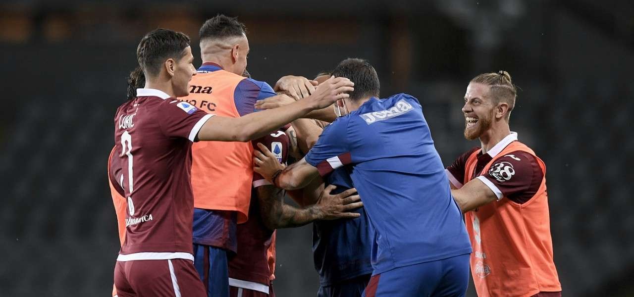 Torino esultanza Brescia lapresse 2020