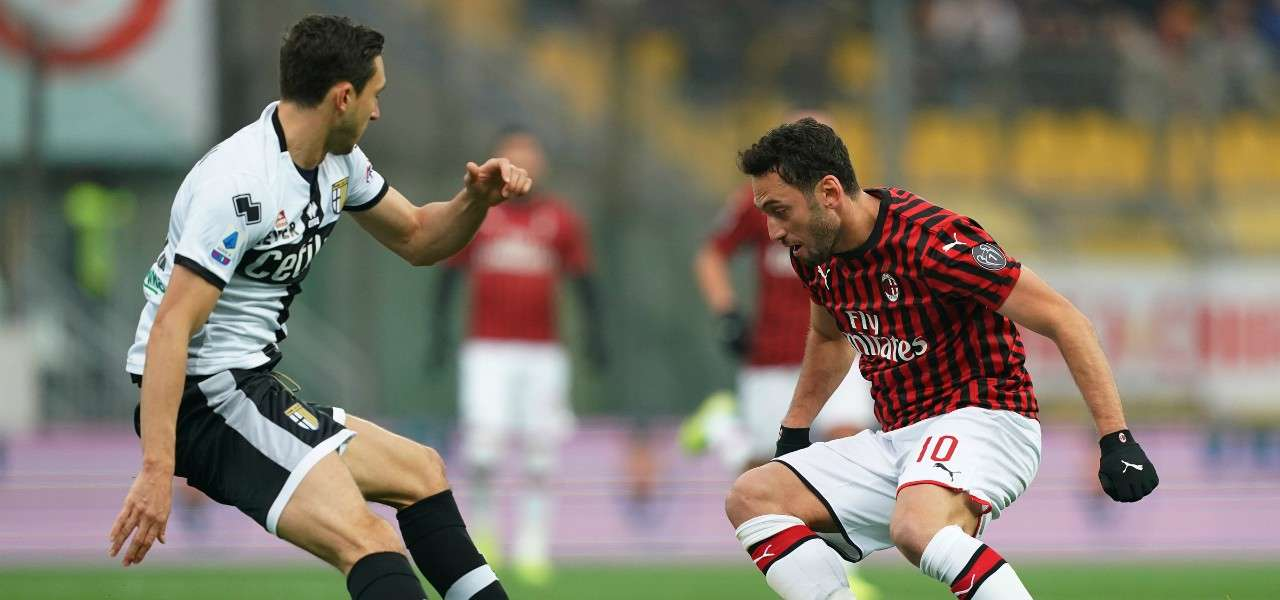 Calhanoglu Darmian Milan Parma lapresse 2020