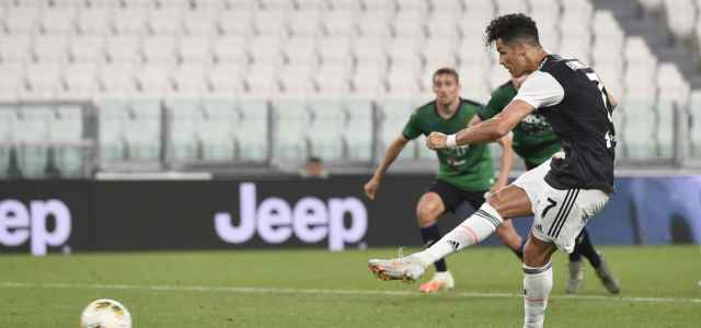 Cristiano Ronaldo rigore Juventus Atalanta lapresse 2020 640x300