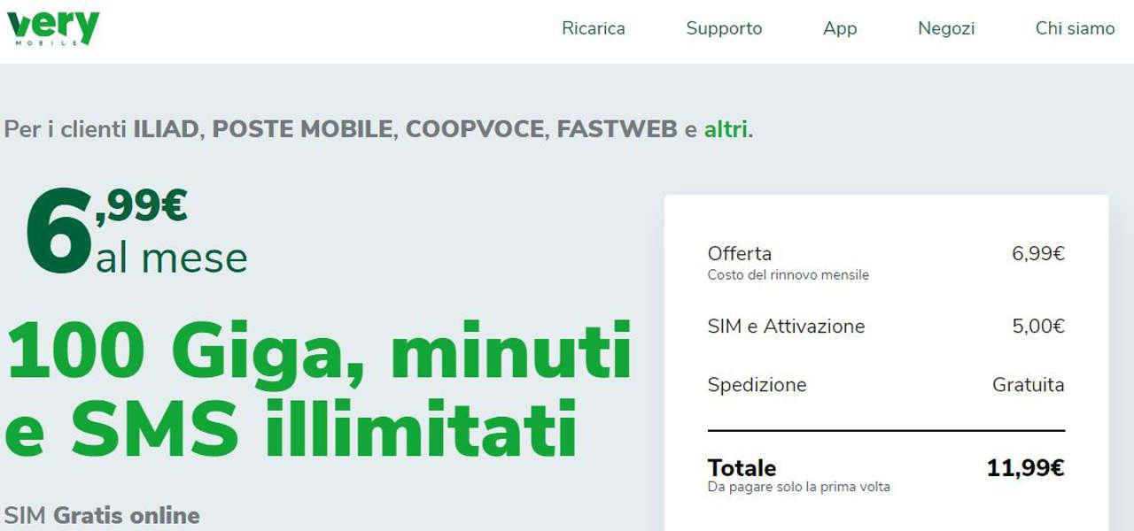 very mobile sito