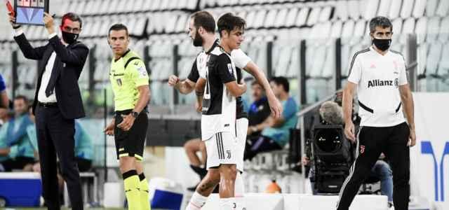 Dybala Higuain Juventus sostituzione lapresse 2020 640x300