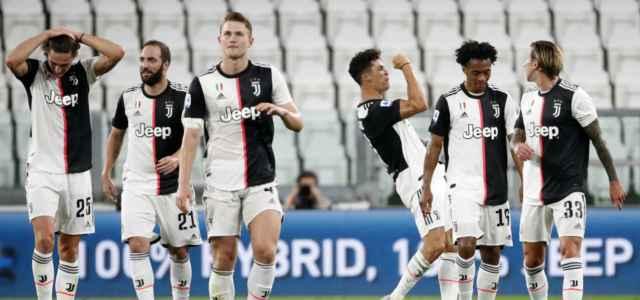 Juventus festa gol scudetto lapresse 2020 640x300