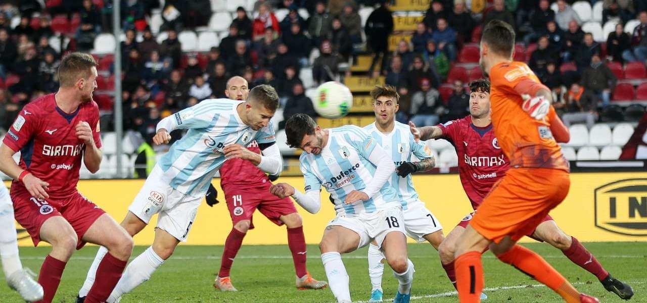 Cittadella Entella gol lapresse 2020