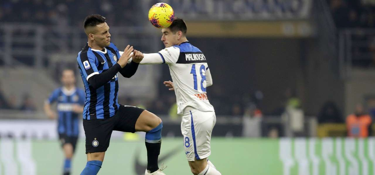 Lautaro Martinez Malinovskyi Inter Atalanta lapresse 2020