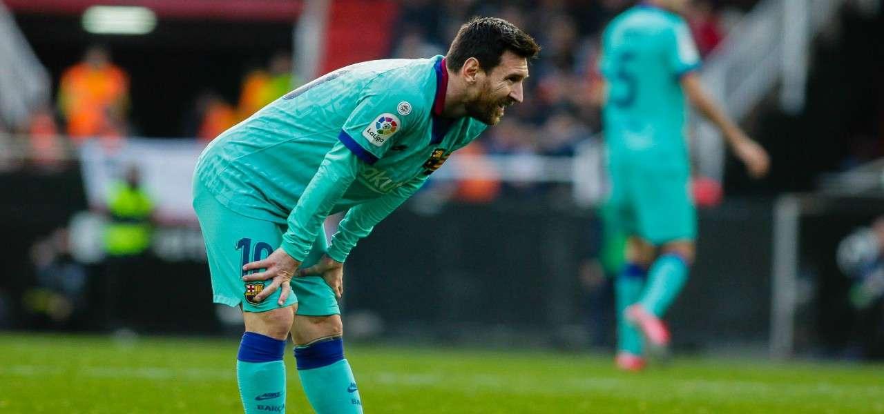 Leo Messi Barcellona verde lapresse 2020