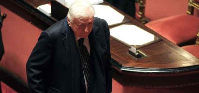 Sergio Zavoli in Senato