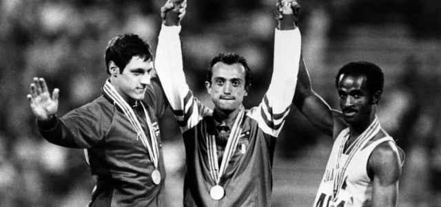 Pietro Mennea podio Mosca lapresse 2020 640x300