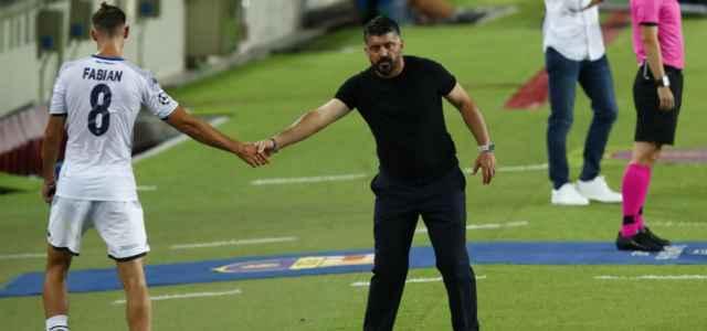 Fabian Ruiz Gattuso saluto Napoli lapresse 2020 640x300