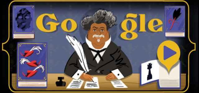 alexandre dumas doodle google 640x300