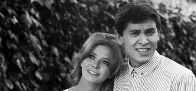 Laura Efrikian e Gianni Morandi in una foto d'epoca