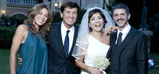 Gianni Morandi in compagnia dei figli Marianna e Marco
