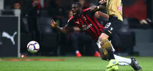 Tiemoue Bakayoko caduta Milan Udinese lapresse 2020 640x300