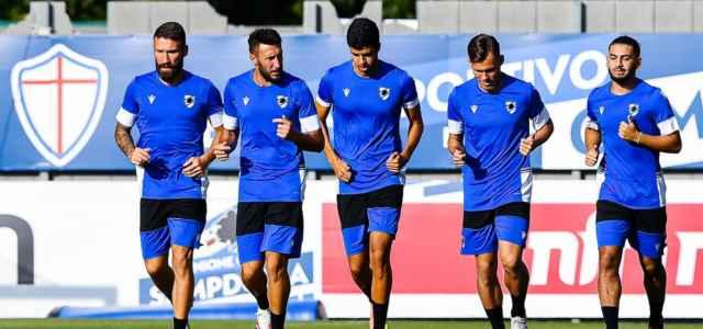 Sampdoria allenamento ritiro lapresse 2020 640x300
