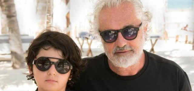 Flavio Briatore in compagnia del figlio Nathan Falco