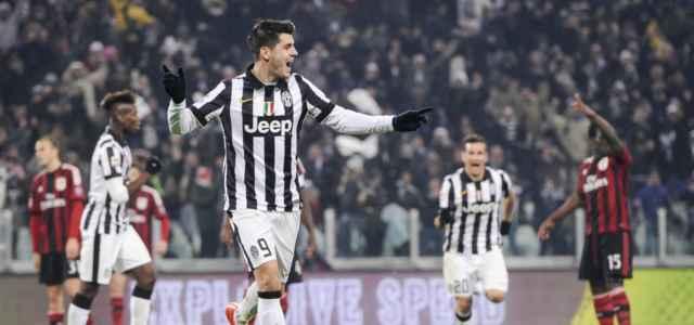 Alvaro Morata gol Juventus Milan lapresse 2020 640x300