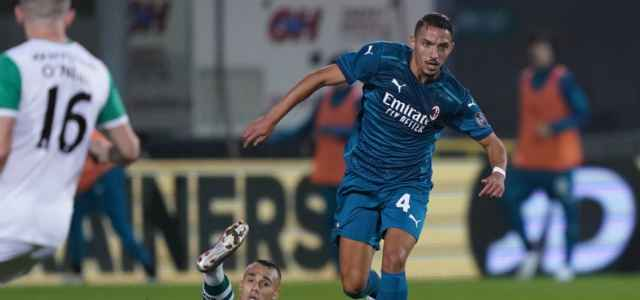 Bennacer Milan Shamrock Europa League lapresse 2020 640x300