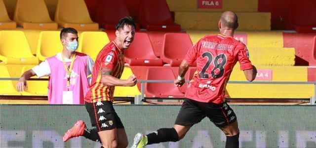 Lapadula Schiattarella Benevento gol lapresse 2020 640x300