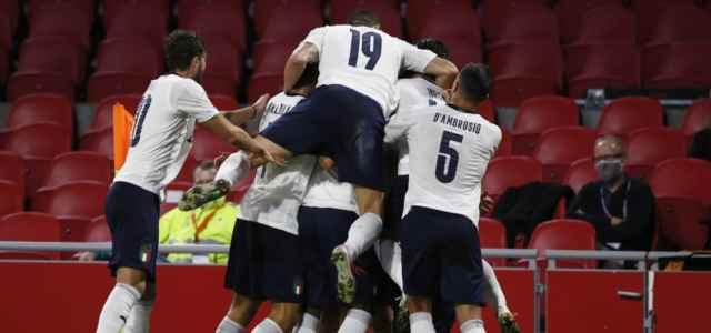 Italia bianca gruppo gol lapresse 2020 640x300