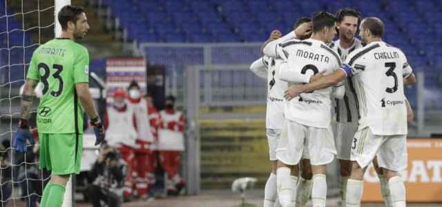 Juventus gruppo gol Roma lapresse 2020 640x300
