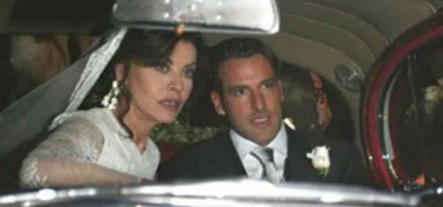 Eva Grimaldi e Fabrizio Ambroso il giorno del loro matrimonio
