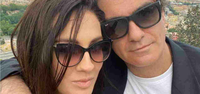 Francesca Manzini in compagnia del fidanzato Christian Vitelli