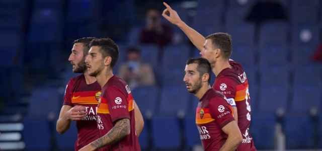 Dzeko Roma gruppo