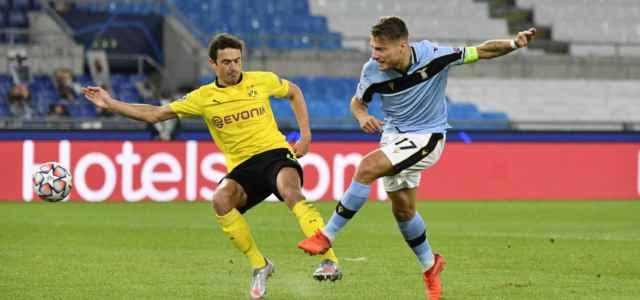 Immobile gol Lazio Dortmund lapresse 2020 640x300