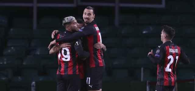 Milan esultanza Europa League lapresse 2020 640x300