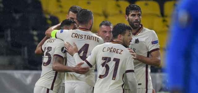 Roma esultanza Europa League lapresse 2020 640x300