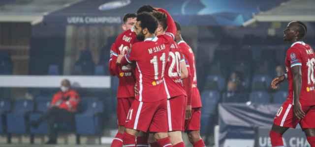 Liverpool esultanza Champions League lapresse 2020 640x300