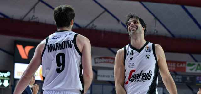 Markovic Teodosic sorriso Virtus Bologna Twitter 2020 640x300