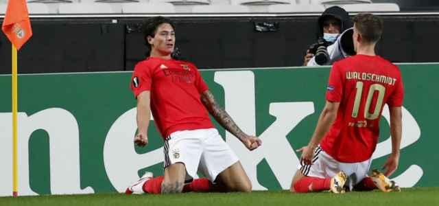 Darwin Nunez Waldschmidt Benfica esultanza lapresse 2020 640x300