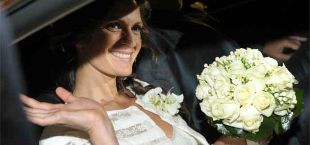 Veronica Berti il giorno delle nozze con Andrea Bocelli